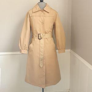 Vintage waterproof trench coat